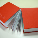 Image of hand bound book Half Life by Rebecca Jones